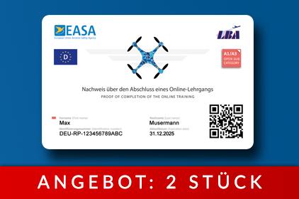 Drohnenführerschein als Karte - Deutschland LBA Luftfahrtbundesamt