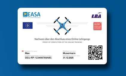 EU Drohnenführerschein A1/A3 als Karte [ DE ]