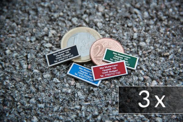 Drohnen-Kennzeichen / Plakette [ nano ] - 3er Pack