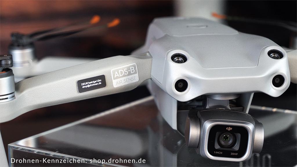 DJI-Mavic-Air2s-Drohnen-Kennzeichen-Plakette-EU-Drohnenverordnung-Registrierung
