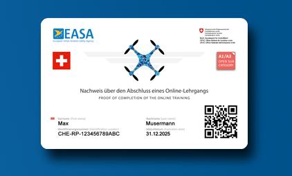 EU Drohnenführerschein als Karte [ Schweiz ]