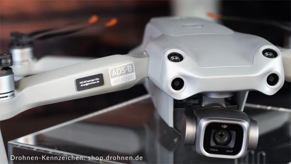 DJI Mavic Air 2S Drohnenkennzeichen Plakette EU Drohnenverordnung Registrierung