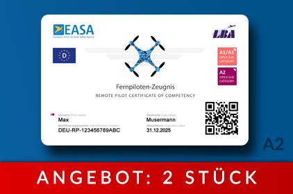 Drohnenführerschein als Karte - Fernpilotenzeugnis A2 - Angebot