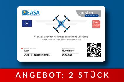 Drohnenführerschein als Karte - Österreich Austro Control - Angebot