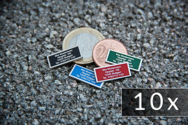 Drohnen-Kennzeichen / Plakette [ nano ] - 10er Pack