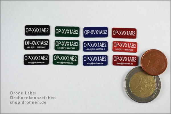 UK: Drohnen / UAS Kennzeichen / Plakette mit CAA Operator-ID