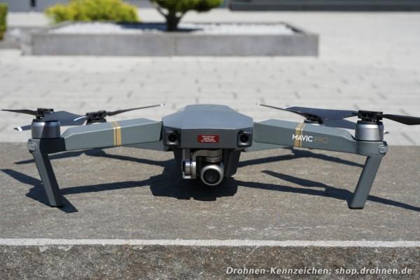 DJI Mavic Pro / Platinum - Drohnen-Plakette / Kennzeichen