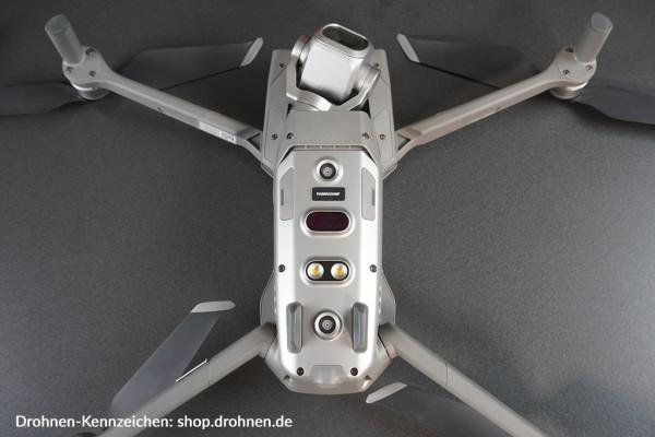 USA: Drohnen / UAS Kennzeichen / Plakette mit FAA Registrierung
