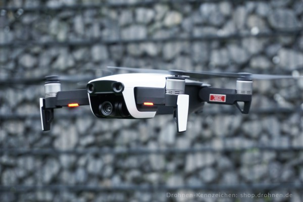 DJI Mavic Air - Drohnen-Plakette / Kennzeichen